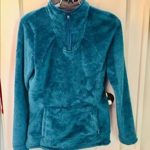 The North Face Osito 1/4 zip dark teal pullover
